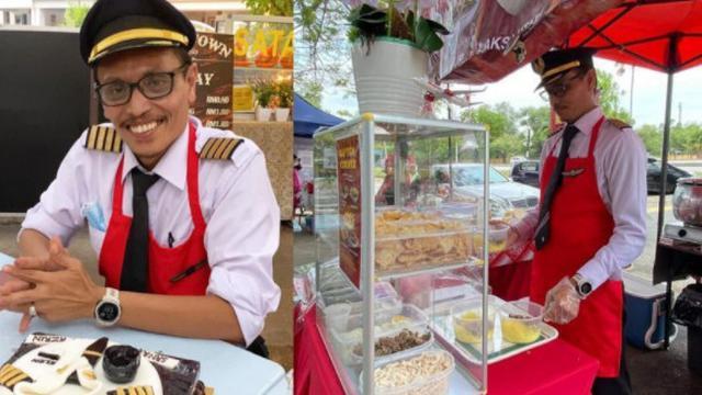 Jualan Rujak Pakai Seragam, Kisah Pilot Senior Kena PHK Ini Bikin Terharu