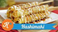 Sajikan hashimaki, pancake gulung isi ayam khas Jepang yang nikmat dan lezat. (Foto: Kokiku Tv)
