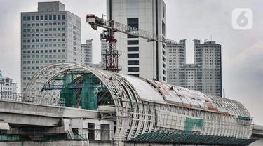 Progres Pembangunan Stasiun LRT Dukuh Atas