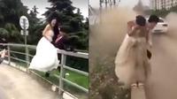 Video prewedding yang diwarnai 'bencana' ini jadi viral (Facebook/Shanghaiist)