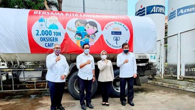 GJTL Gajah Tunggal Group dan Yayasan UID Sedekah Oksigen Cair - Otomotif Liputan6.com