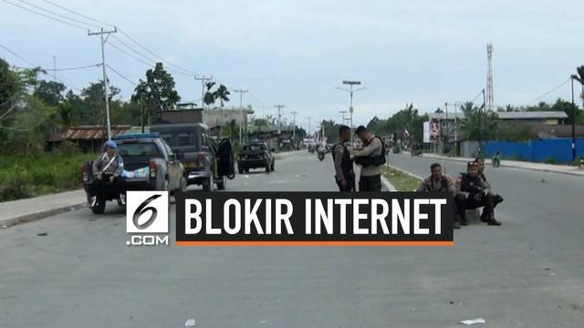 Kementerian Komunikasi dan Informatika RI memutuskan untuk melakukan pemblokiran sementara layanan data telekomunikasi, mulai Rabu (21/8/2019) hingga suasana Tanah Papua kembali kondusif dan normal.