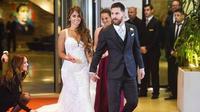 Pernikahan Lionel Messi dan Antonella Rocuzzo (AFP/Bintang.com)
