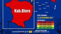 Peta Zona Resiko Covid-19 Kabupaten Blora (Liputan6.com/Ahmad Adirin)