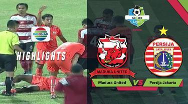 Berita video momen tubrukan keras pemain Persija Jakarta, Osas Saha, dengan pemain Madura United, Munhar, dalam lanjutan Gojek Liga 1 2018 bersama Bukalapak, Minggu (14/10/2018).