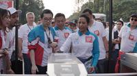 Menteri BUMN Rini Soemarno luncurkan LinkAja. Dok: Merdeka