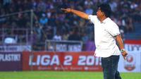 Pelatih Persik, Budihardjo Thalib, tak menjamin tim asuhannya bisa sukses hingga akhir kompetisi Liga 2 2019. (Bola.com/Gatot Susetyo)