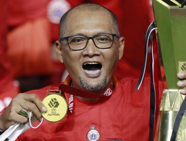 FOTO: Kebahagiaan Pep Guardiman Usai Membawa Persija Menjuarai Piala Menpora
