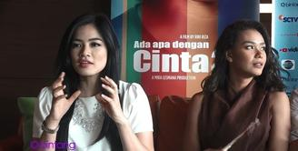 Titi Kamal dan Adinia Wirasti yang berperan menjadi Maura dan Karmen di AADC 2 ini berusaha untuk menyatukan pikiran dengan anggota geng cinta lainnya.