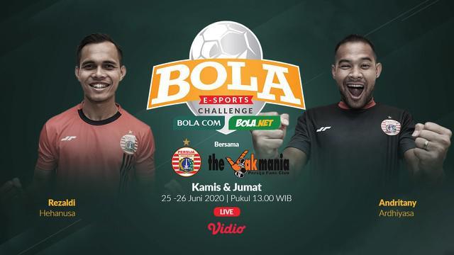 Berita video nantikan kehebatan kiper Persija Jakarta, Andritany Ardhiyasa, bersama The Jakmania di BOLA E-Sports Challenge pada 25 dan 26 Juni 2020.
