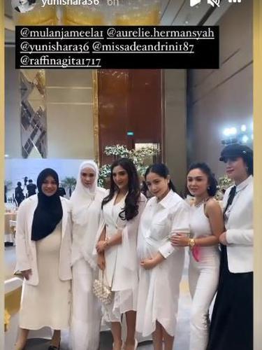 6 Momen Pertemuan Yuni Shara dan Nagita Slavina di Acara Ashanty, Jadi Sorotan