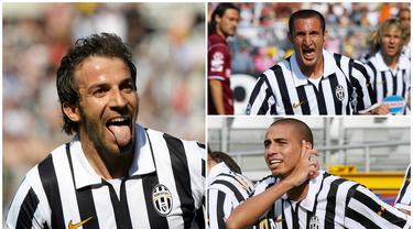 Pada tahun 2006, sejumlah bintang Juventus pergi karena klub mereka harus degradasi akibat kasus calciopoli. Namun ada enam bintang yang memutuskan untuk tetap setia bertahan bersama La Vecchia Signora, berikut keenam pemain tersebut. (Kolase Foto dari AFP)