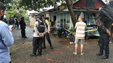 Densus 88 tembak mati dua terduga teroris di Makassar (Liputan6.com/Fauzan)