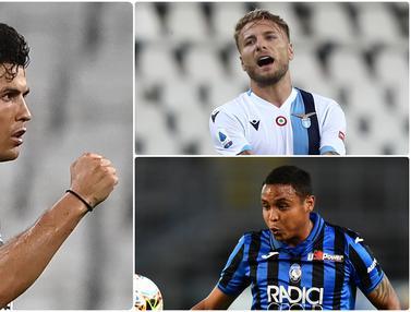 Top Skor Sementara Serie A, Cristiano Ronaldo dan Immobile Bersaing Ketat