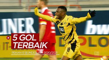 Berita video 5 pencetak gol terbaik pekan ke-13 Bundesliga 2020/2021, di mana salah satunya wonderkid Borussia Dortmund, Youssoufa Moukoko.