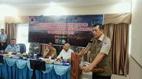 Kepala BNPB Letjen Doni Monardo dalam arahannya di posko Satgas Siaga Darurat Karhutla Riau. (Liputan6.com/M Syukur)