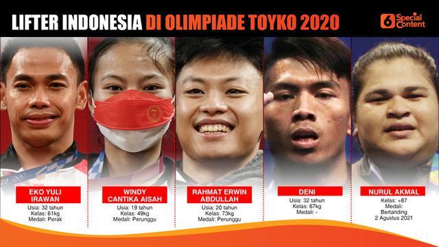 Lifter Indonesia di Olimpiade Tokyo 2020 (Liputan6.com/Abdillah)