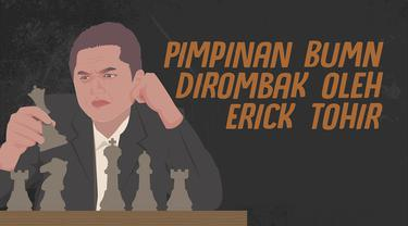 Menteri BUMN Erick Tohir merombak sejumlah direksi BUMN. Ini dia deretan pimpinan BUMN yang dirombak.