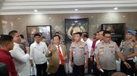 Menko Polhukam Mahfud Md berkunjung ke Mabes Polri, Jakarta Selatan. (Ady Anugrahadi/Liputan6.com)