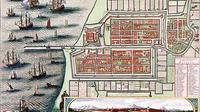 Peta kota Batavia lama, cikal bakal Jakarta (Wikipedia)