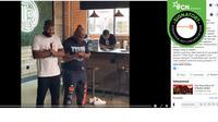 Hoaks Mike Tyson salat di kafe anti-Islam. (Facebook/