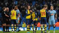 Arsenal akan menjamu Manchester City di Stadion Emirates dalam laga pekan ke-17 Premier League, Selasa (21/12/2015) dini hari WIB. (AFP/Oli Scarff)