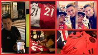 Petualangan Eri Prastiyo, fan Manchester United, menemui Ander Herrera di Makau. (Bola.com/Dok Pribadi Eri Prastiyo)