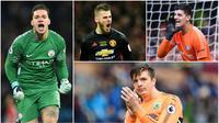 Berikut ini lima kiper tangguh yang mampu menunjukan penampilan terbaik di Premier League musim ini. Diantaranya, David De Gea, Thibaut Courtois dan Ederson Moraes.