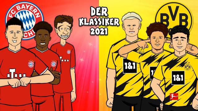 Berita Video Melihat Animasi Lucu dari Latihan Bayern Munchen dan Borussia Dortmund Jelang Der Klassiker