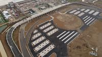 Pembangunan bandara internasional di Kertajati sudah hampir 65 persen. (Liputan6.com/Panji Prayitno)