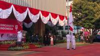 Gubernur DKI Jakarta Anies Baswedan memimpin Upacara Peringatan HUT RI ke-75 di Balai Kota DKI Jakarta. (Istimewa)