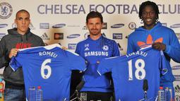 2. Chelsea (0 Gol). Selama 2 musim di Chelsea, yaitu musim 2011/2012 dan musim 2013/2014, Romelu Lukaku mencatatkan penampilan sebanyak 15 di semua ajang kompetisi dan tidak mencetak 1 gol pun. (AFP/Ben Stansall)