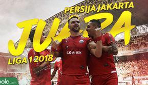 Persija Jakarta juara Liga 1 2018. (Bola.com/Dody Iryawan)