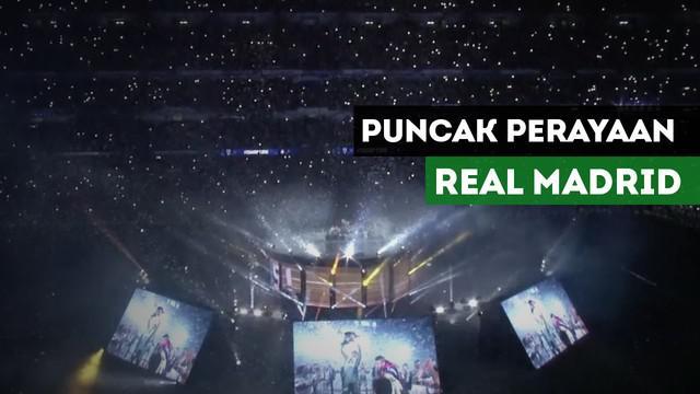 Berita Video Puluhan Ribu Madridista Hadiri Puncak Perayaan Juara Real Madrid