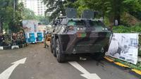 Kendaraan lapis baja untuk keamanan debat pilpres pada Sabtu (13/4/2019) (Foto:Liputan6.com/Pebrianto W)