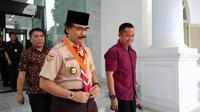 Adhyaksa Dault Datang ke Istana bertemu Presiden Jokowi (Liputan6.com/Ahmad Romadoni)