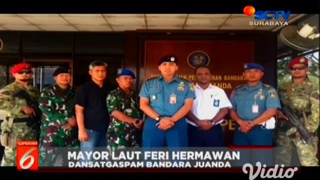 Satuan Tugas Pengamanan (Satgaspam) Bandara Juanda, membantah adanya kronologis penangkapan dan penembakan bandar narkoba di wilayah areal Terminal 1 Bandara Juanda, seperti yang diberitakan sejumlah media.