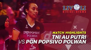 Berita video highlights kemenangan PGN Popsivo Polwan yang meraih kemenangan 3-1 atas TNI AU di Livoli 2019, Jumat (18/10/2019).