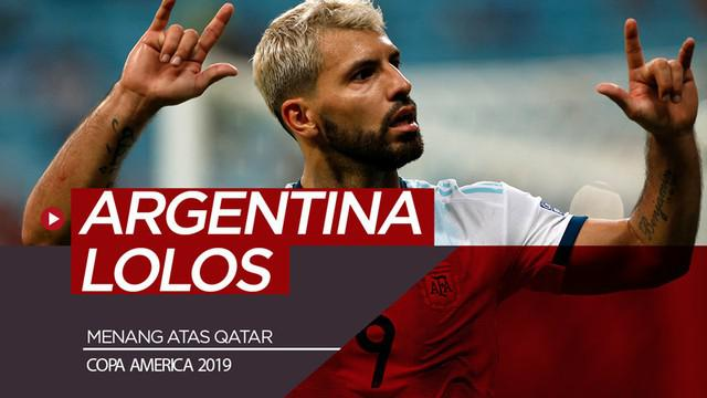 Berita video highlights Copa America 2019 antara Qatar melawan Argentina yang berakhir dengan skor 0-2, Minggu (23/6/2019).