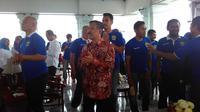 Pemain dan ofisial Persib Bandung saat menghadiri coffee morning bersama Pemprov Jabar di Gedung Sate, Rabu (15/3/2017). (Bola.com/Erwin Snaz)