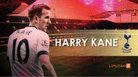 Striker Tottenham Hotspur Harry Kane. (Liputan6.com/Tri yasni)