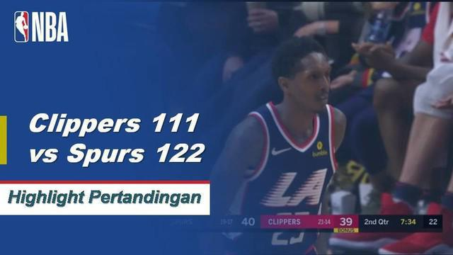 LaMarcus Aldridge menyumbang 38 poin saat Spurs mengalahkan Clippers 122-111.