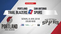 Portland Trail Blazers Vs San Antonio Spurs (Bola.com/Adreanus Titus)