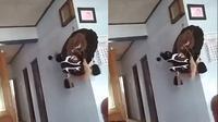Viral Video Barongan Bisa Gerak Sendiri Tanpa Dipakai Ini Bikin Merinding (sumber: TikTok/mayaikhsan0)