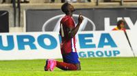 Penyerang Atletico Madrid asal Kolombia, Jackson Martinez. (AFP/Cristina Quicler)