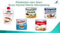 Anjuran BPOM tentang label susu kental manis (Screenshot presentasi BPOM Bijak Mengonsumsi Susu Kental Manis (SKM) dan Produk Sejenis)