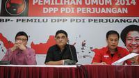 Jelang pelaksanaan Rakernas di Kota Semarang, DPP PDI-P menggelar konferensi pers di Jakarta, (17/9/2014). (Liputan6.com/Helmi Fithriansyah)