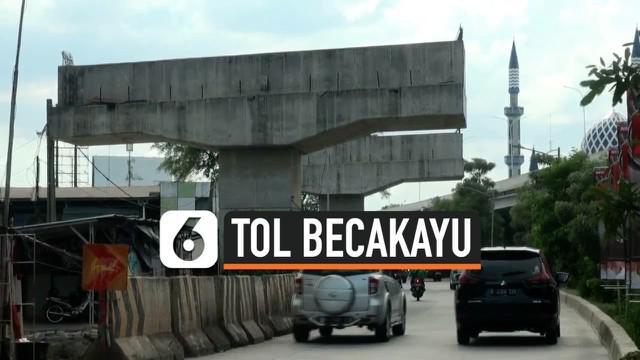 VIDEO: Empat Tiang Tol Becakayu Mangkrak