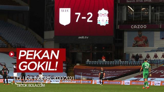 Berita video TikTok Bola.com kali ini membahas pekan yang gokil di Liga Inggris 2020/2021, di mana Manchester United dan Liverpool sama-sama dibantai oleh tim lawan.
