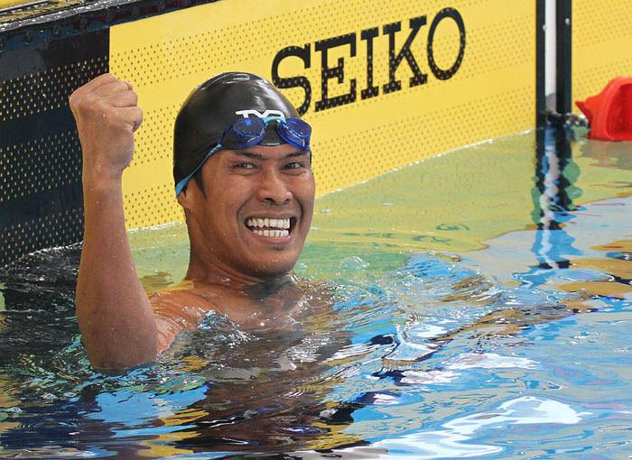 Guntur meraih medali emas di nomor 100 meter gaya dada SB8 sekaligus memecahkan rekor di ASIAN Para Games 2017. (dok APG Indonesia)